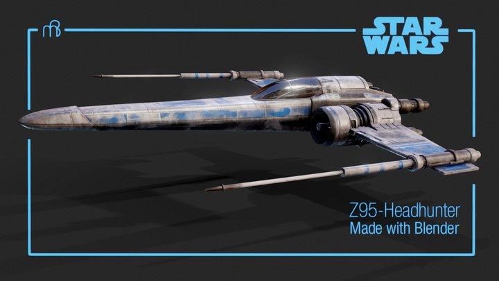 Star Wars - Z-95 headhunter (animated demo) 3D Model