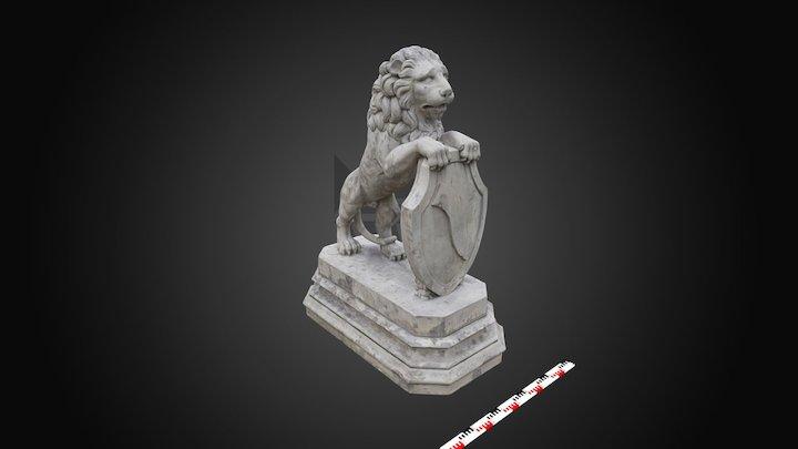 Lew - rzeźba z Mauzoleum Potockich (Wil.RzA.100) 3D Model