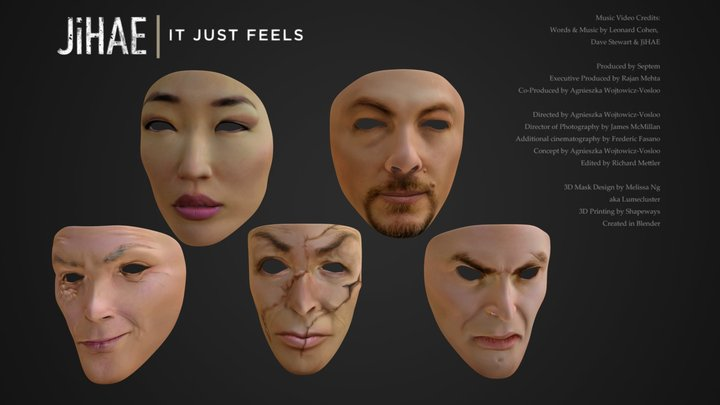 JiHAE: It Just Feels music video masks 3D Model