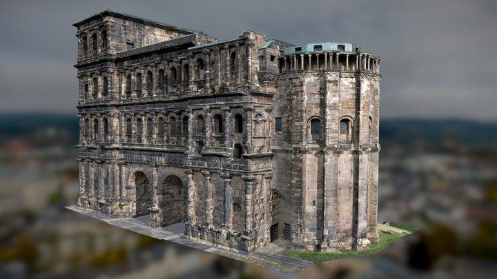 Porta Nigra Trier HD 8K Texture - UAS 3D Scan 🖤 3D Model