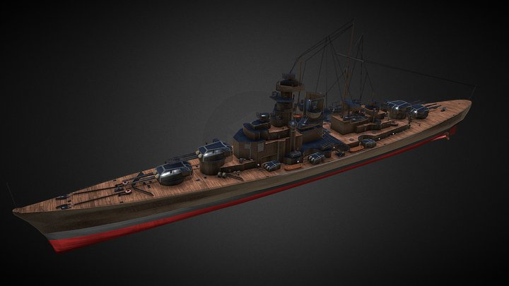 Bismark battleship 3D Model