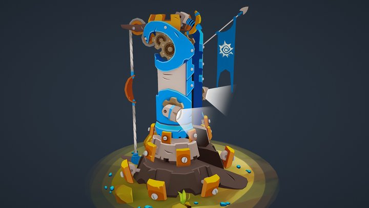 Badland Brawl - Tower 3D Model