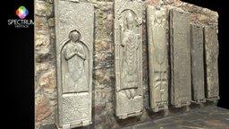 Iona Abbey Grave Slabs 3D Model