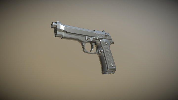 Pistola 50k 3D Model