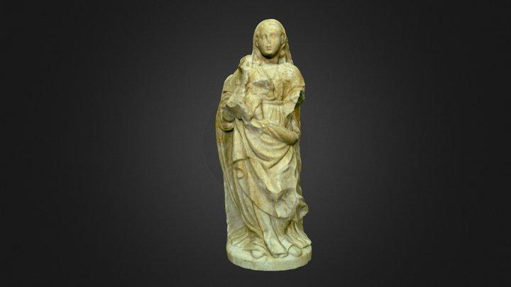 Virgen con niño - siglo XVI 3D Model