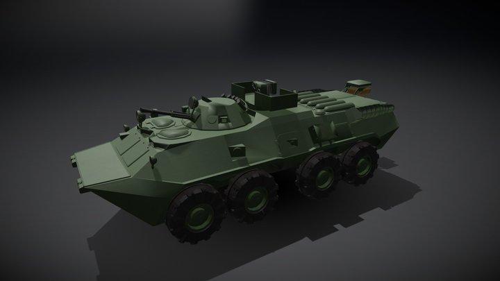 BTR-80 RKHM 3D Model
