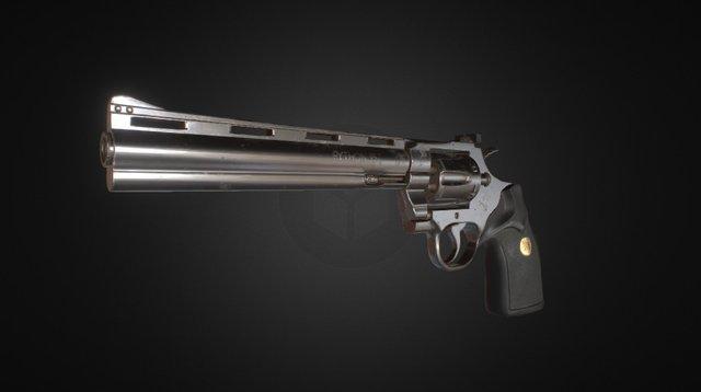 Colt Python .357 Revolver 3D Model