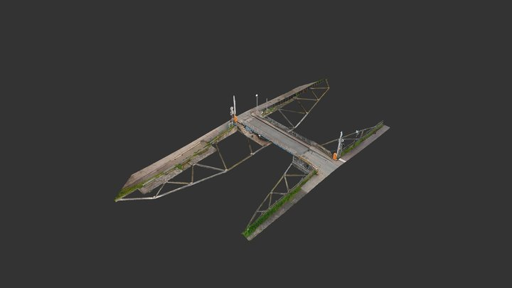 Pont tournant avant rénovation - Vendenheim 3D Model
