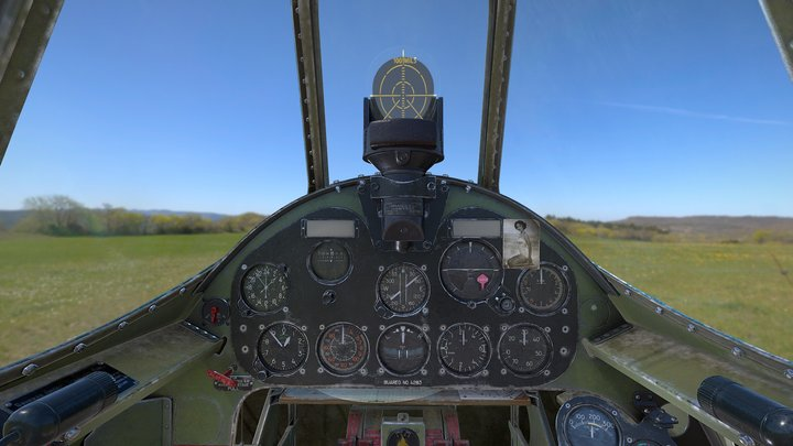 F5F-3 Cabine interior 3D Model
