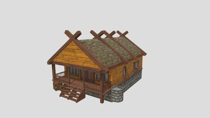 Medieval House 2x3 3D Model
