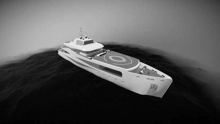 Scope yacht - EXPLORER 3D Model