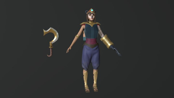 Anubis' Descendant 3D Model