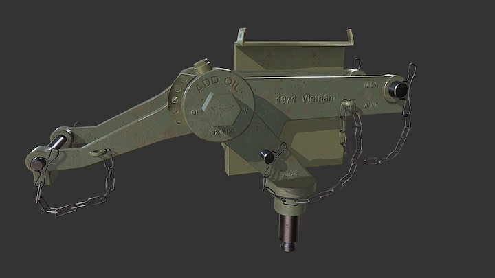 M2 Browning Mount MK-23 3D Model