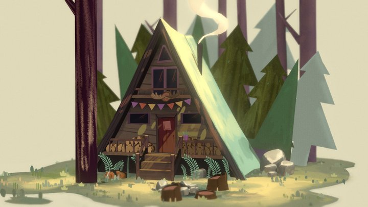 Cozy Forest Home 3D Model