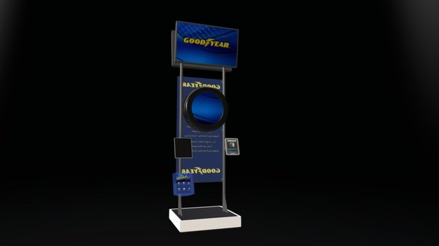 COMM TRUCK TIRE STAND A 3D Model