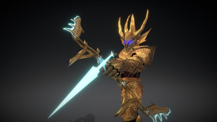 Archery God Across World 3D Model