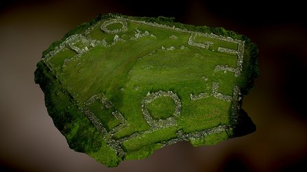 Din Lligwy, Isle of Anglesey Iron age village 3D Model