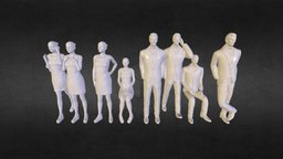 People 16th Scale 3D Model