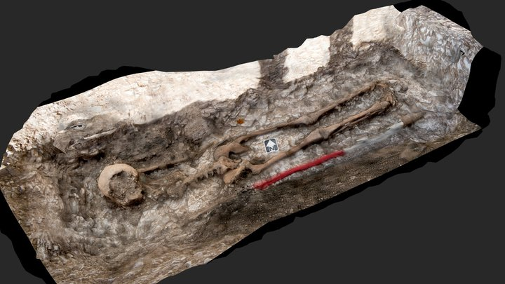 Female Anglo Saxon Burial 3D Model