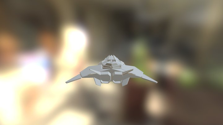 Low Poly Fighter 3D Model