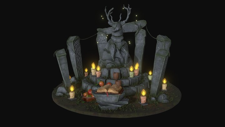 Celtic Altar of the Gods 3D Model