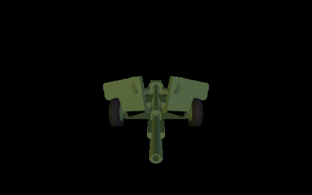 Antitank Gun 3D Model
