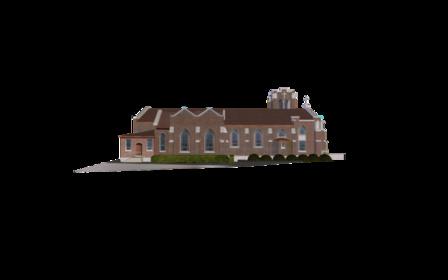 Sacred Heart Catholic Church 3D Model