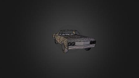 El Camino 1969 3D Model