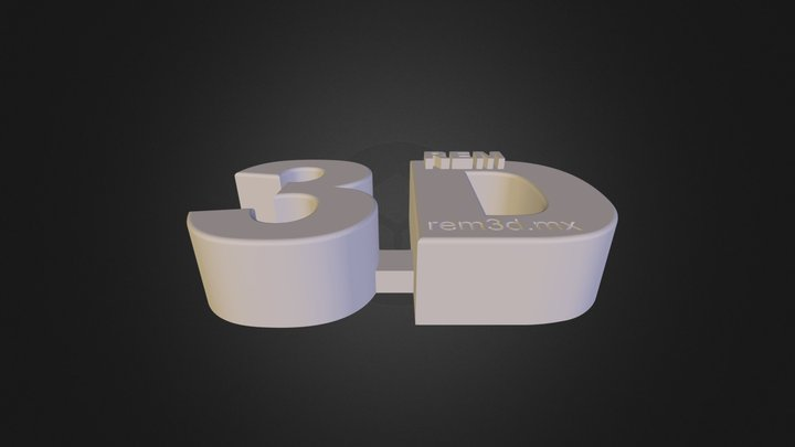 REM 3D Logo in 3D With Web Page.stl 3D Model