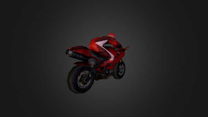 moto 1000cc 3D Model