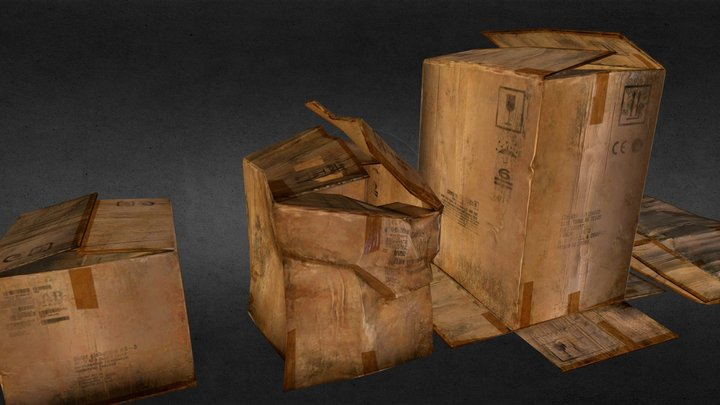 cardboard boxes mod 3D Model