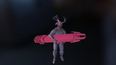 7F - Aya Uma - Test Animacion para RA 3D Model