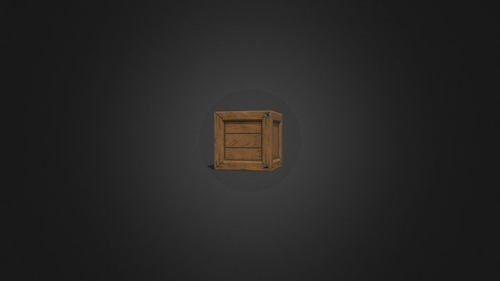 Stylized Crate Final 3D Model
