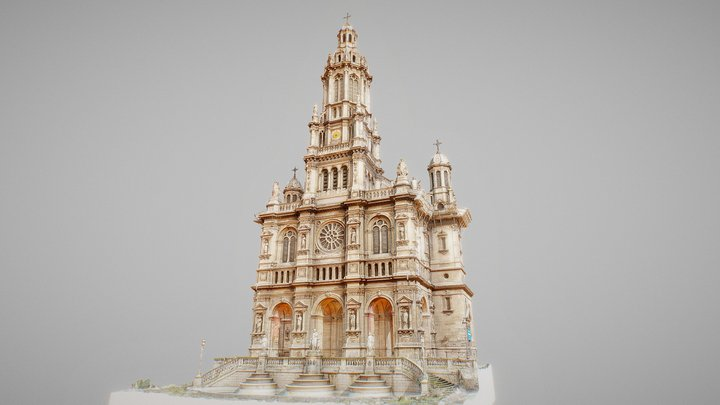 L'Eglise de la Sainte-Trinité, Paris, France 3D Model