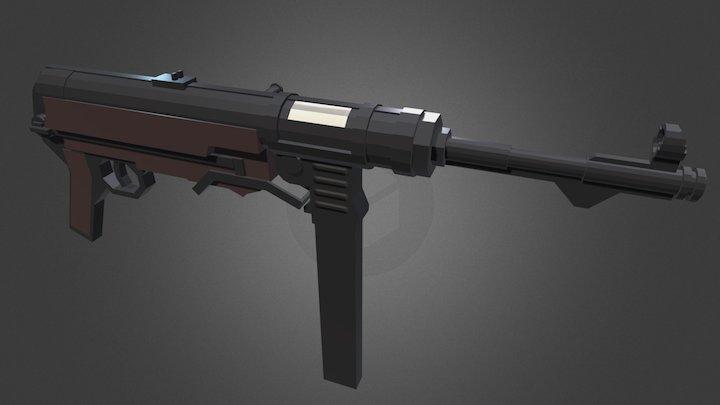 Minecraft - mp40 3D Model