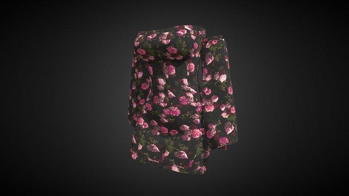 Floral dress 3D Model