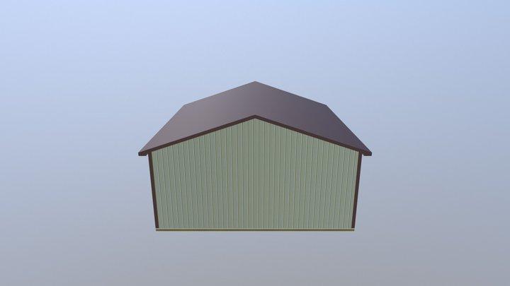 Pole Barn - 30 x 40 x 12 x 4:12 3D Model