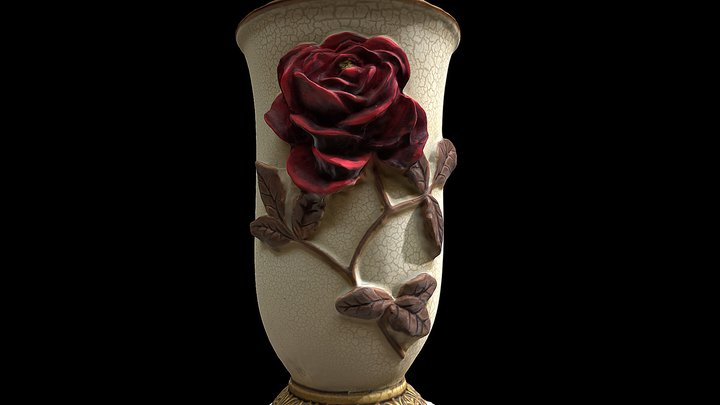 FREE HQ GAME MODEL FLOWER VASE 3D Model