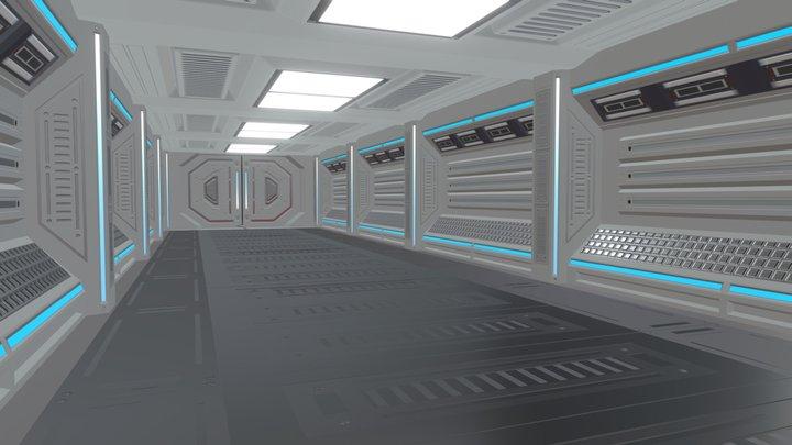 Science Fiction Interior 3D Model