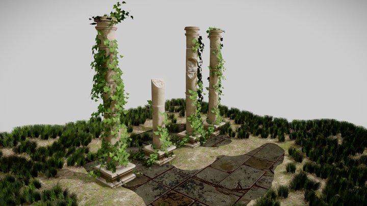Ancient columns 3D Model