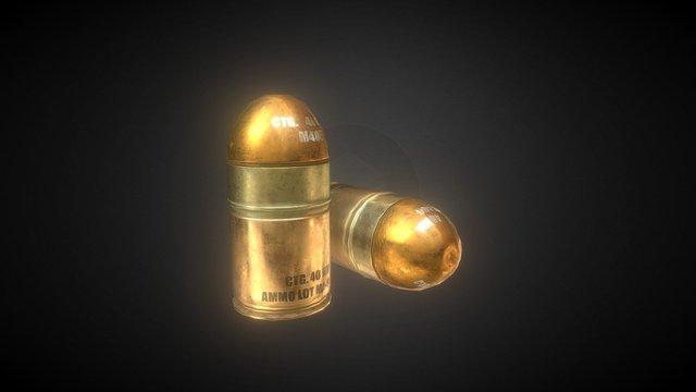 Grenade Launcher Ammo 3D Model