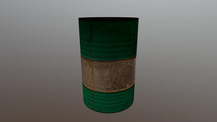 Green Barrel 3D Model
