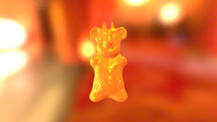 Golden Devil Koala Gummy Bear 3D Model