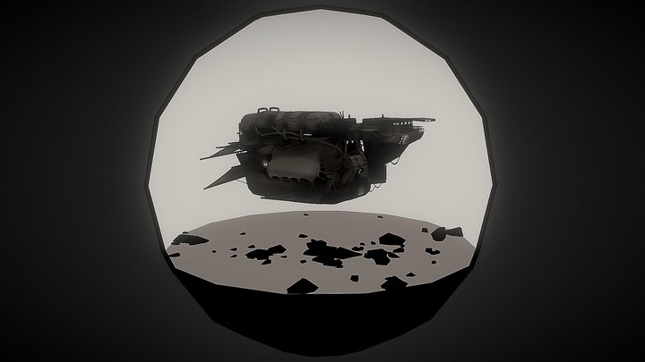 Freighter voship 3D Model
