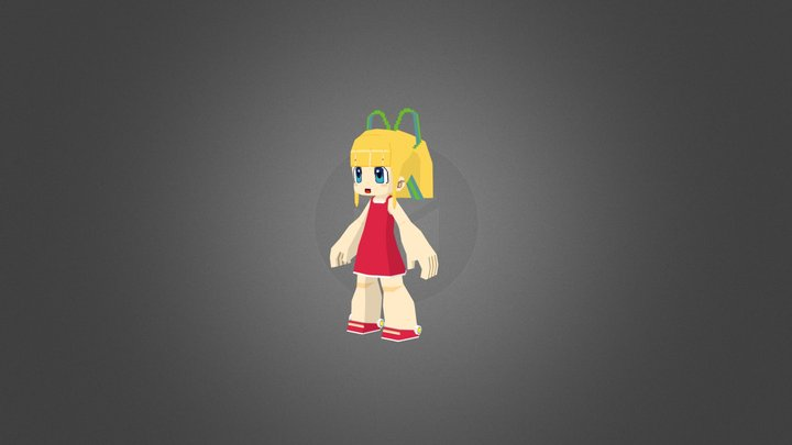 Megaman Legends: Classic Roll 3D Model