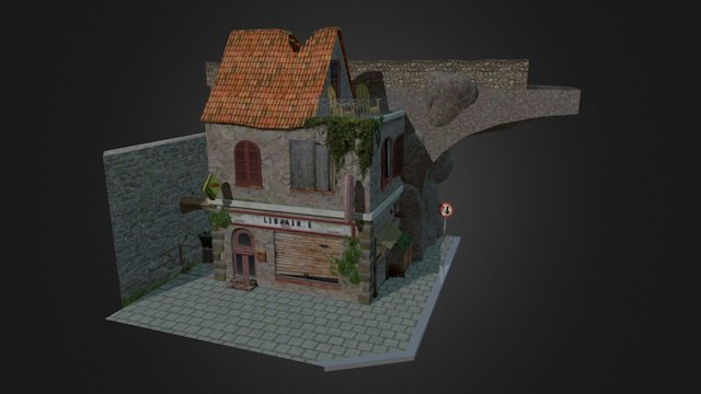 WIP- Abandoned shop/book store 3D Model
