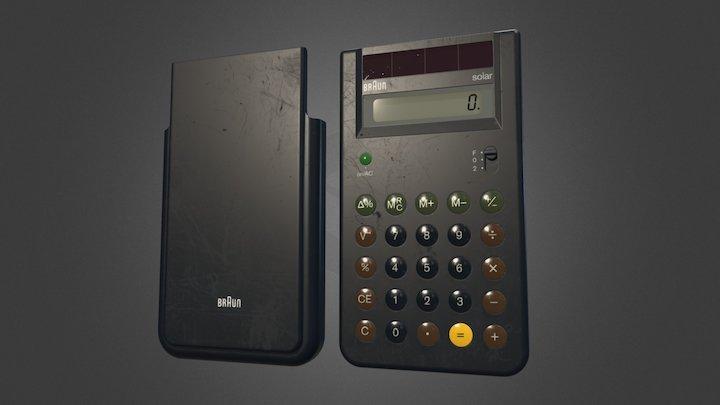 Braun Solar Calculator 4777 3D Model