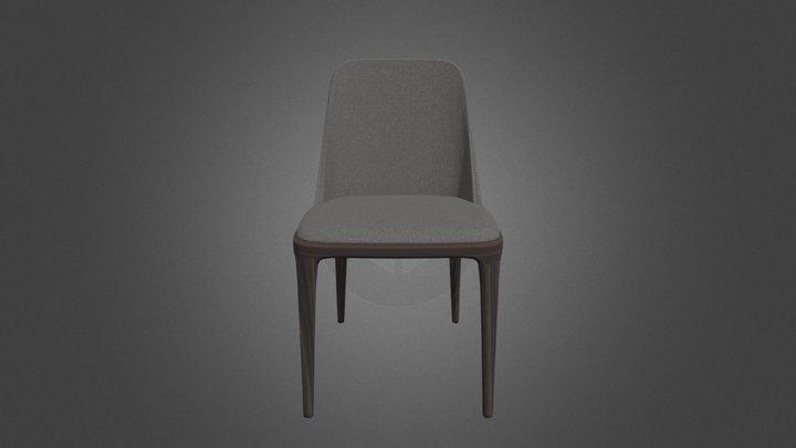 Felt dining chairs 3D Model