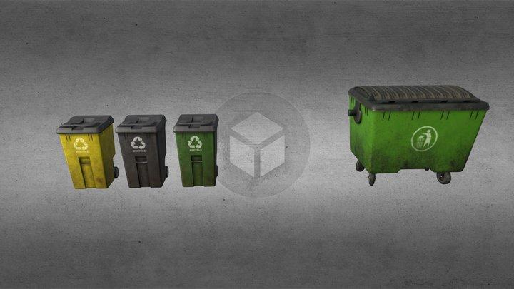 Literally Trash (bins) 3D Model