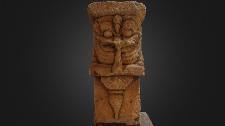 Lion Statue from Kantharodai 3D Model
